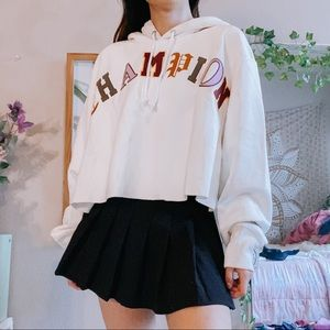 NWT champion oversized cropped hoodie